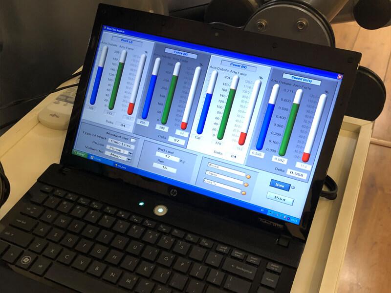 avaliação de força computadorizada